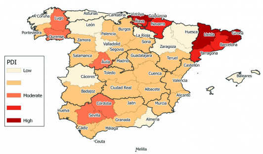 Alma College Map Models May Predict Political Disruption - Spain political map