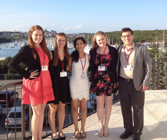 Presenting in Croatia were, from left: Tracy Oberle, Lauren Engels, Michelle Jerezano, Aleia McKessy and Will Donahue.