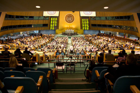 The Model UN competition in New York City.