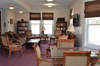 Brenneman Reception Area in the Smith Alumni House