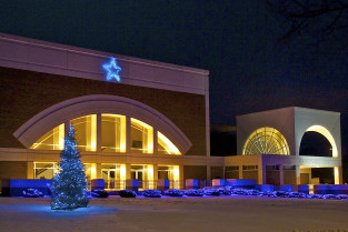 Heritage Center decorated for the holidays