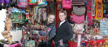 Ashley Hurt '14 and _ travel to Peru for a Spring Term course.