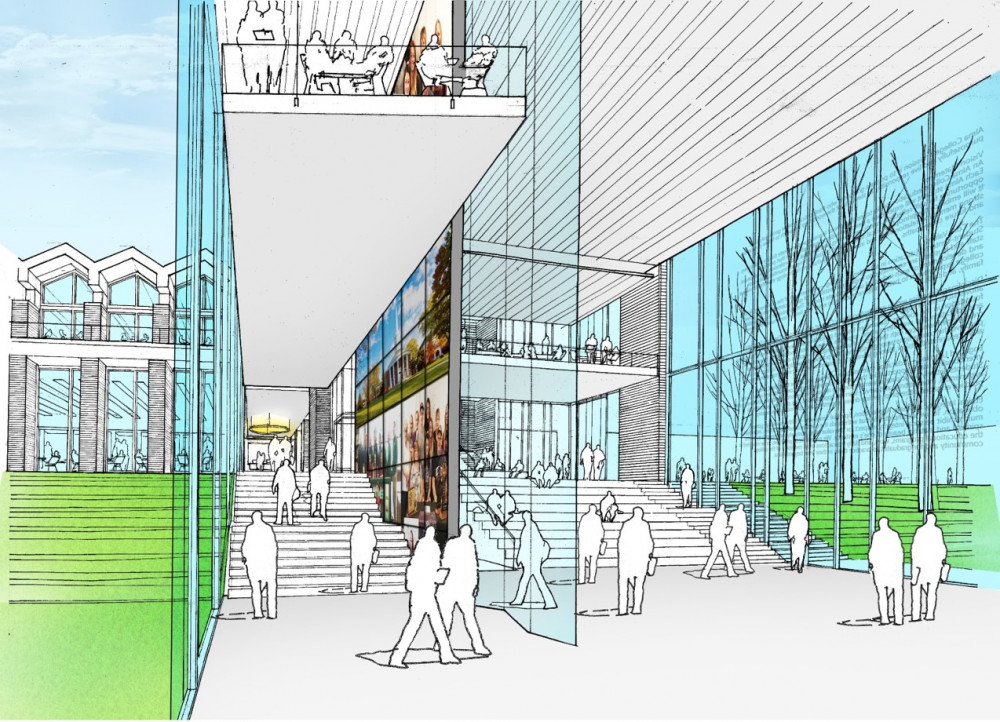 Artist rendering of the Learning Commons