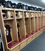 Football and Lacrosse locker room interior