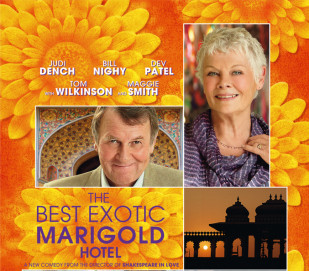 Movie Poster for The Best Exotic Marigold Hotel.