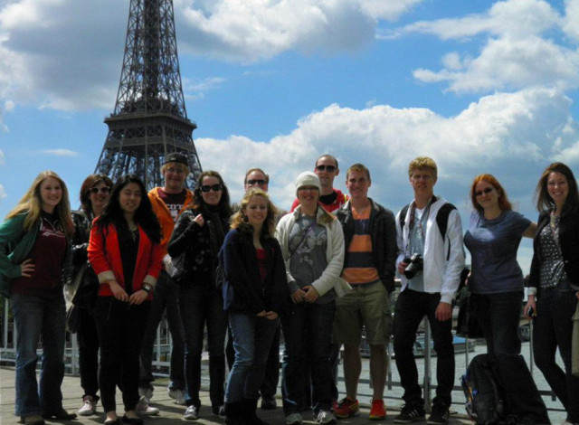 Students from Professor Dan Connolly's Spring 2012 Art History in Paris course
