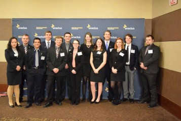 Members of Entrepreneurs in Action at the 2016 Enactus Regional Competition in Chicago