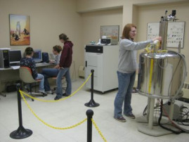 Undergraduate students frequently use NMR in our courses and research.