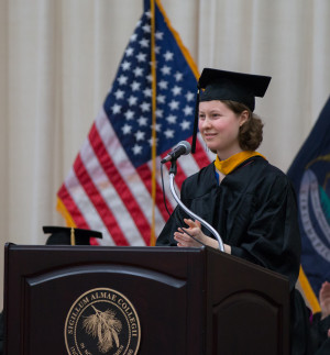 "Hannah Jeffery advises her classmates, ""Ideas are always more effective when they are stated simply."""