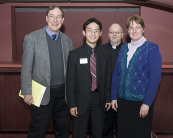 Professor Ed Lorenz, with Will Allen and Will's parents, in 2011.