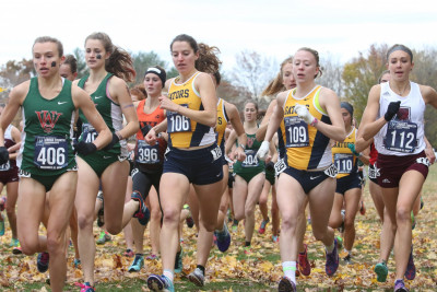 <em>Kaitlyn Arnold, far right, competing at the NCAA Division III Cross Country Championship.</em>