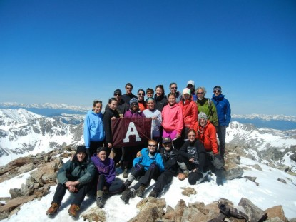 Altitude Physiology 2012 at the top of Quandary Peak, CO (14,265')
