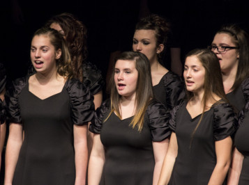 Glee Club members singing during the 2013 Festival of Carols.