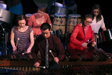 The Alma College Percussion Ensemble at the Notre Dame Collegiate Jazz Festival.