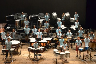 Annual Percussion Workshop for 26 budding musicians.
