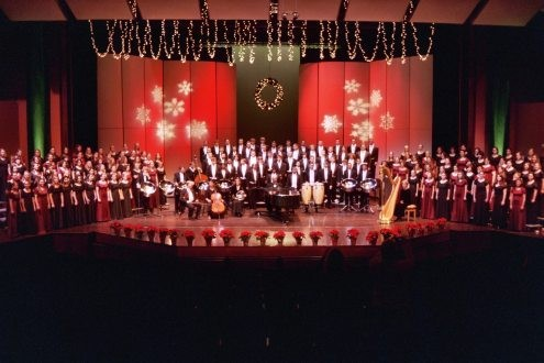 The Alma Choirs Christmas Concert was streamed live on the web.