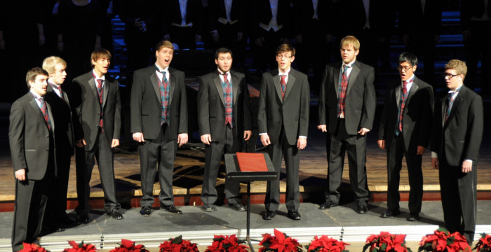 Scots on the Rocks performs at our holiday concert, Festival of Carols.
