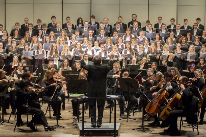 Our choirs and symphony orchestra combine for the annual Masterworks concert.
