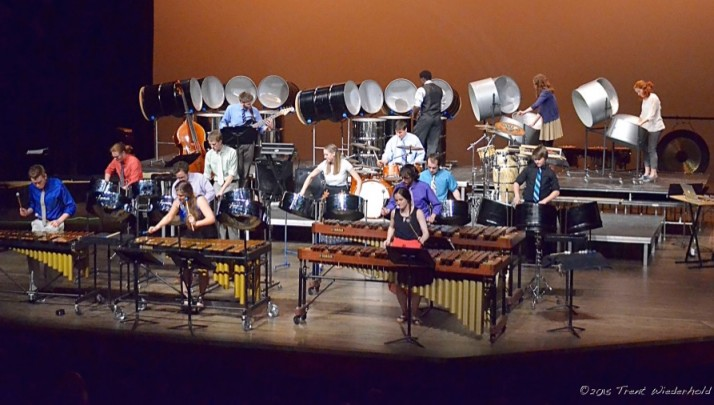 Members of the Percussion Ensemble.