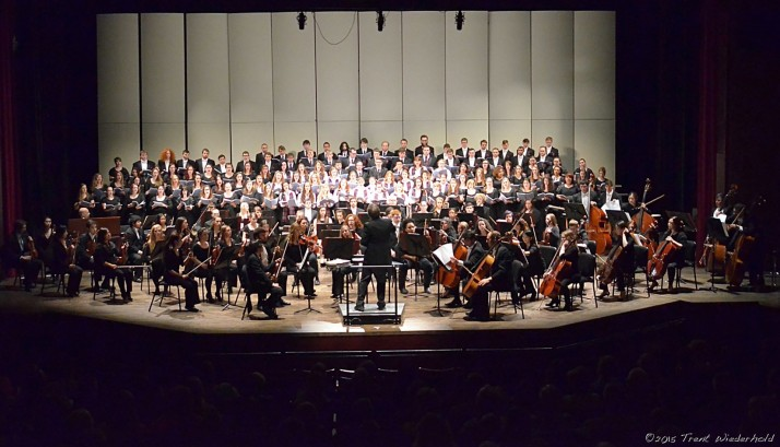 Alma Symphony Orchestra, Alma Choir, Glee Club and Women's Choir at the annual Masterworks Concert.