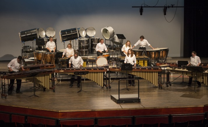 "The Percussion Ensemble's concert included a performance of ""Lover."""