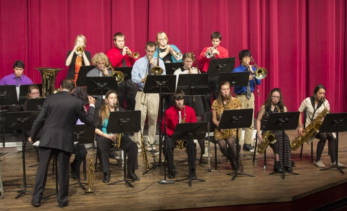 Jazz Ensemble at their December concert.