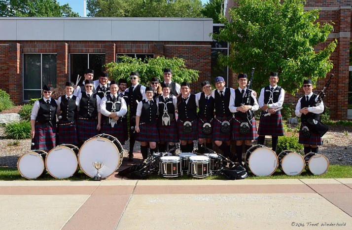 The pipe band placed second in the U.S. Championships.