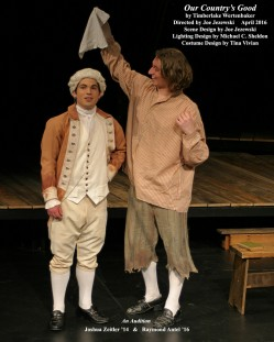 Our Country's Good by Timberlake Wertenbaker.  Directed by Joe Jezewski.  Scene Design by Joe Jezewski, Lighting Design by Michael C. Sheldon, Costume Design by Tina Vivian.  An Audition.  Featuring Joshua Zeitler '14.  &  Raymond Antel '16.  April 2016.
