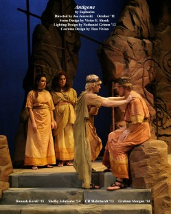 "Antigone by Sophocles.  Directed by Joe Jezewski.  ""Haemon & Creon & Chorus"" October 2011."