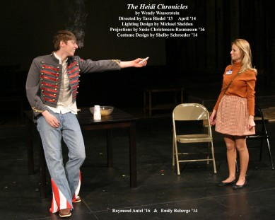 The Heidi Chronicles by Wendy Wasserstein.  Directed by Tara Riedel '13.  Featuring Raymond Antel '16  &  Emily Roberge '14.