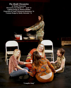 The Heidi Chronicles by Wendy Wasserstein.  Directed by Tara Riedel '13.  Featuring Emily Roberge '14, Hannah Korell '15, Sara Day '15, Shelby Schroeder '14  &  Samantha Arthur '15.