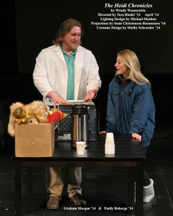 The Heidi Chronicles by Wendy Wasserstein.  Directed by Tara Riedel '13.  Featuring Graham Morgan '14  &  Emily Roberge '14.