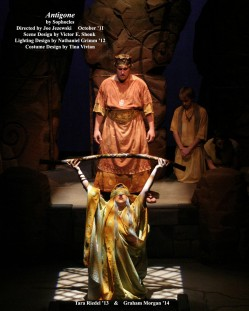 Antigone by Sophocles. Directed by Joe Jezewski. Featuring Tara Riedel '13 & Graham Morgan '14. October 2011.