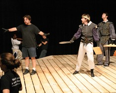 Stage combat rehearsal for Richard III.  Choreographed by Mike Sheldon.