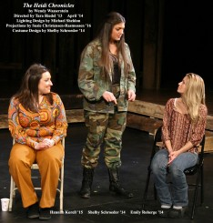 The Heidi Chronicles by Wendy Wasserstein. Directed by Tara Riedel '13. Featuring Hannah Korell '15, Shelby Schroeder '14 & Emily Roberge '14. April 2014.
