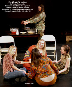 The Heidi Chronicles by Wendy Wasserstein. Directed by Tara Riedel '13. Featuring Emily Roberge '14, Hannah Korell '15, Sara Day '15, Samantha Arthur '15 & Shelby Schroeder '14. April 2014.