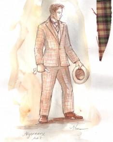 Tina Vivian Costume Design for Algernon in The Importance of Being Earnest, April 2013.
