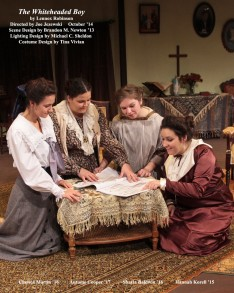 The Whiteheaded Boy by Lennox Robinson.  Directed by Joe Jezewski.  Scene Design by Brandon Newton '13, Lighting Design by Michael C. Sheldon, Costume Design by Tina Vivian.  Featuring Chelsea Martin '16, Autume Cooper '17, Shayla Baldwin '16  &  Hannah Korell '15.  October 2014.