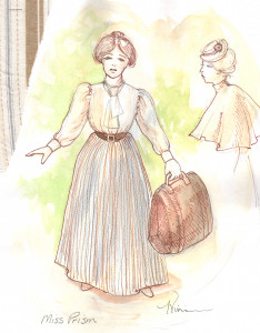 Tina Vivian Costume Design for Miss Prism in The Importance of Being Earnest, April 2013.