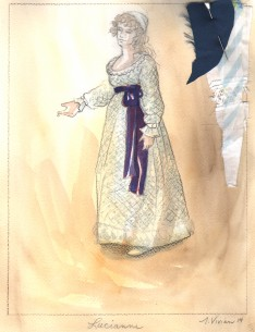 Force of Nature Costume Designs by Tina Vivian, Alma College Theatre Faculty Costume Designer