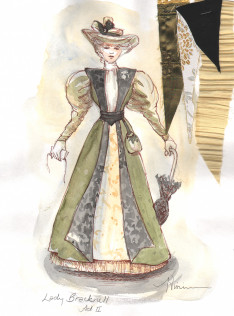 Tina Vivian Costume Design for Lady Bracknell in The Importance of Being Earnest, April 2013.