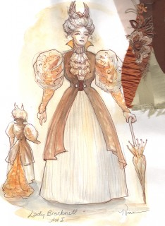 Tina Vivian's costume design for Lady Bracknell