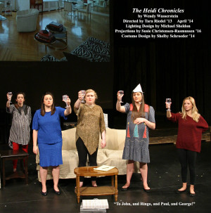 The Heidi Chronicles by Wendy Wasserstein.  Directed by Tara Riedel '13.  Featuring Samantha Arthur '15, Hannah Korell '15, Sara Day '15, Shelby Schroeder '14  &  Emily Roberge '14.