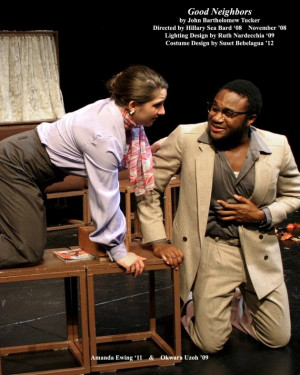 "<em>From November 2008: Okwara Uzoh performs in ""Good Neighbors.""</em>"