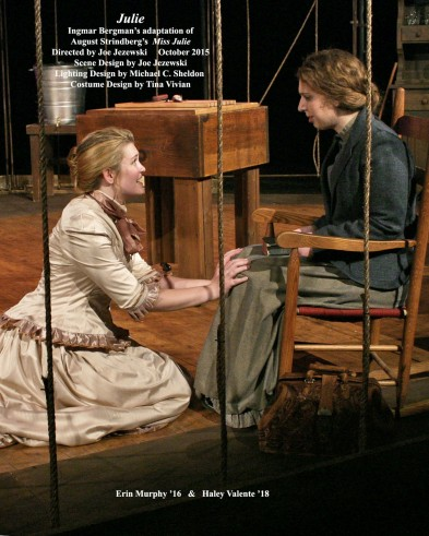 <em><strong>Julie</strong></em> - Ingmar Bergman's adaptation of August Strindberg's <em>Miss Julie</em>.  October  2015.