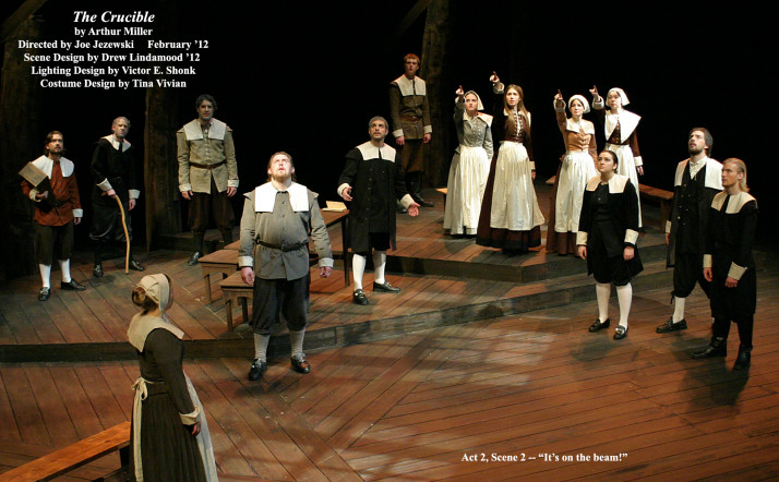 "The Crucible by Arthur Miller.  Directed by Joe Jezewski.  From Act II, Scene 2 - ""It's on the beam!""  February 2012."