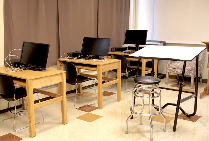 The Design Studio – for teaching both hand drafting and computer aided design.