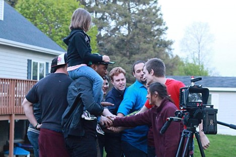 "Photography wraps on the short film ""Presence."""