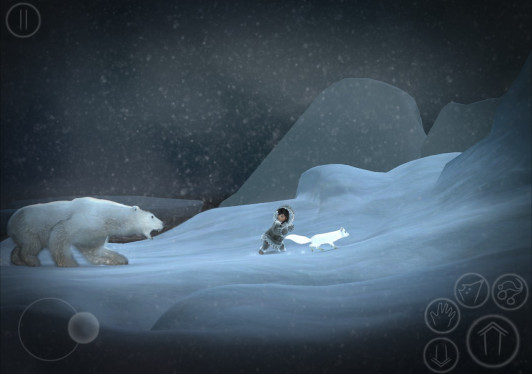 "A screenshot from the game ""Never Alone."""