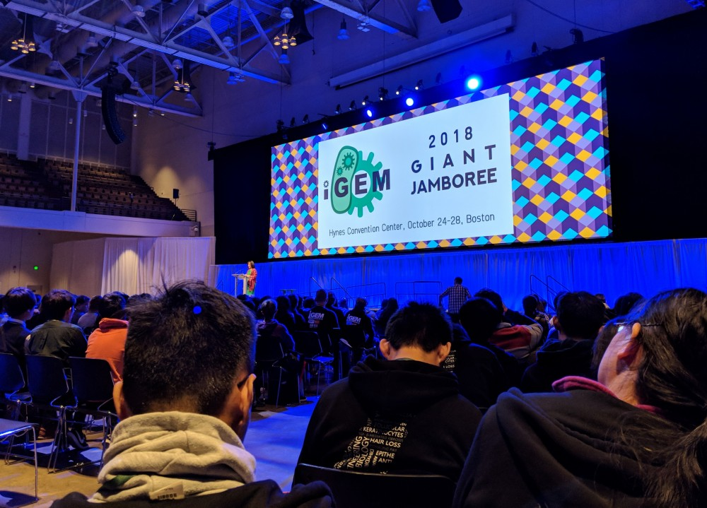 Alma students attended the iGEM Jamboree in Boston.